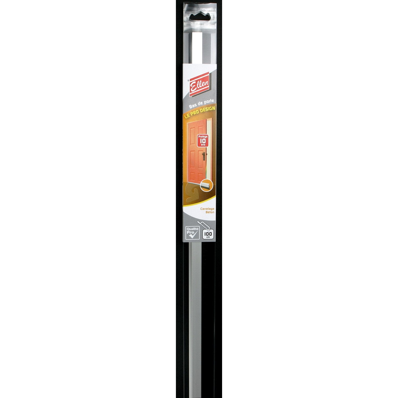 Bas de porte visser brosse ellen cm aluminium for Bas de porte leroy merlin