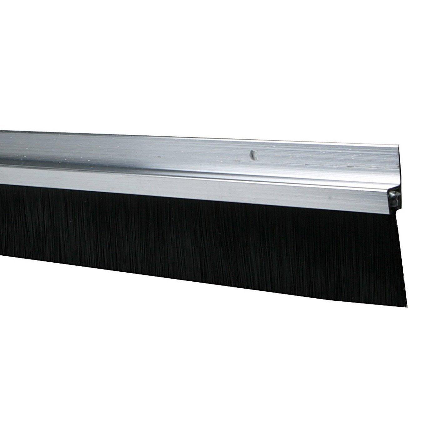 bas de porte visser brosse axton long 250 cm aluminium leroy merlin. Black Bedroom Furniture Sets. Home Design Ideas