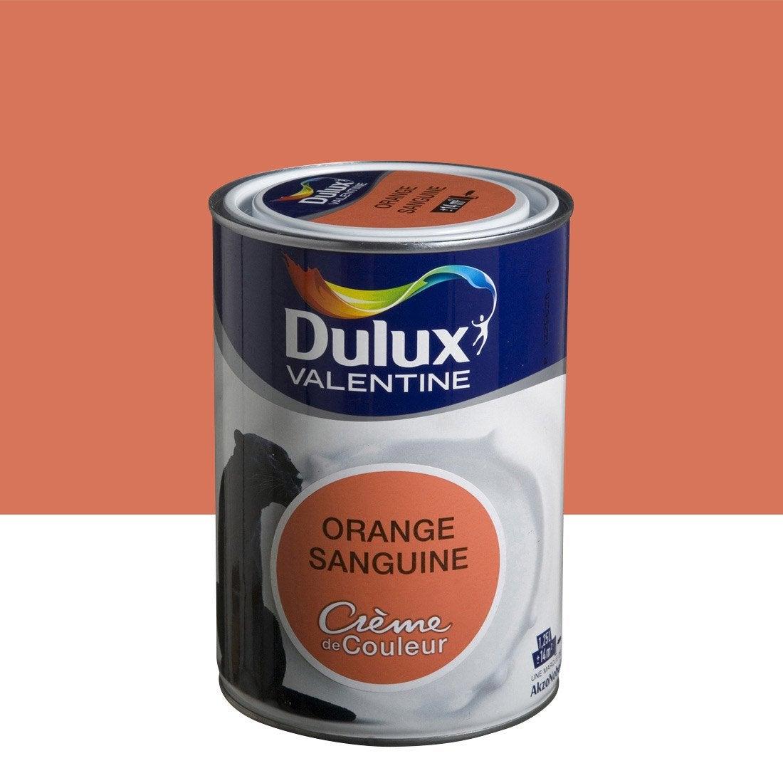 peinture orange sanguine dulux valentine cr me de couleur. Black Bedroom Furniture Sets. Home Design Ideas