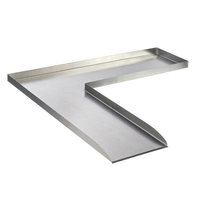 cours d 39 eau ubbink wolga angle gauche gris h 4 cm. Black Bedroom Furniture Sets. Home Design Ideas