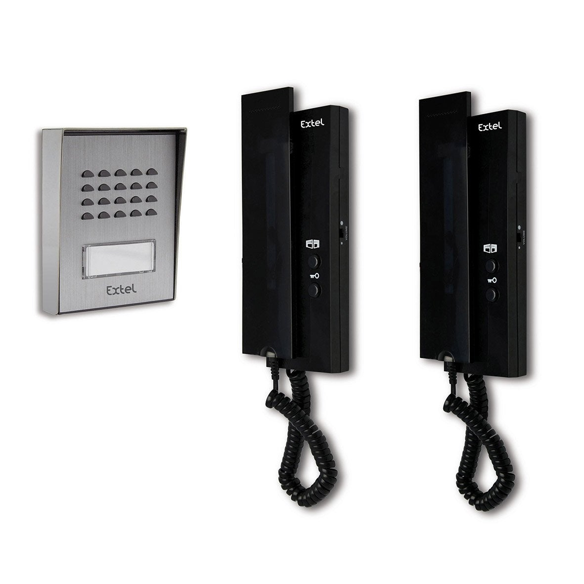 pack interphone 1 platine 2 combin s filaire extel easy bus leroy merlin. Black Bedroom Furniture Sets. Home Design Ideas