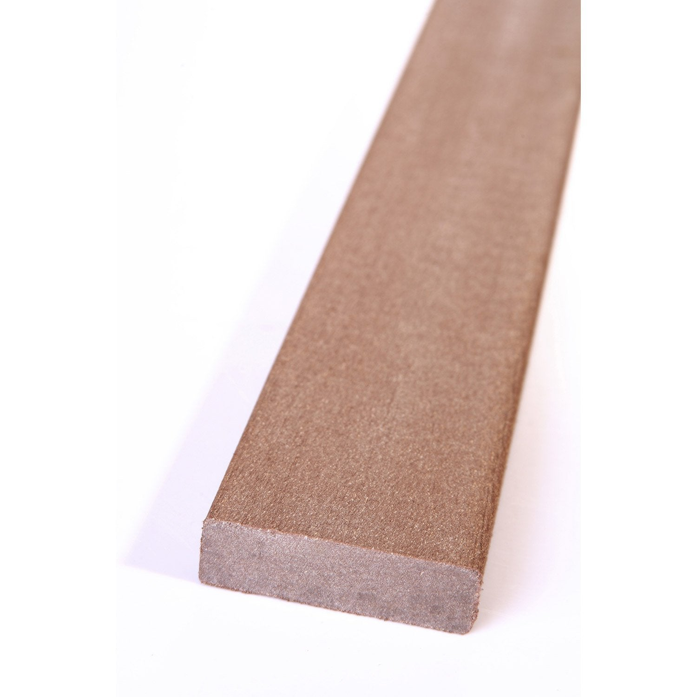Plinthe composite brun fonc terrasse premiuml 2 x l m leroy merlin - Composite pas cher pour terrasse ...