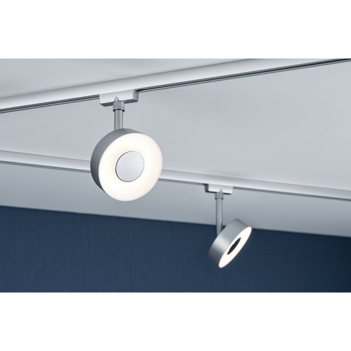 spots et suspensions pour rail paulmann circle led 1 x 5 w leroy merlin. Black Bedroom Furniture Sets. Home Design Ideas