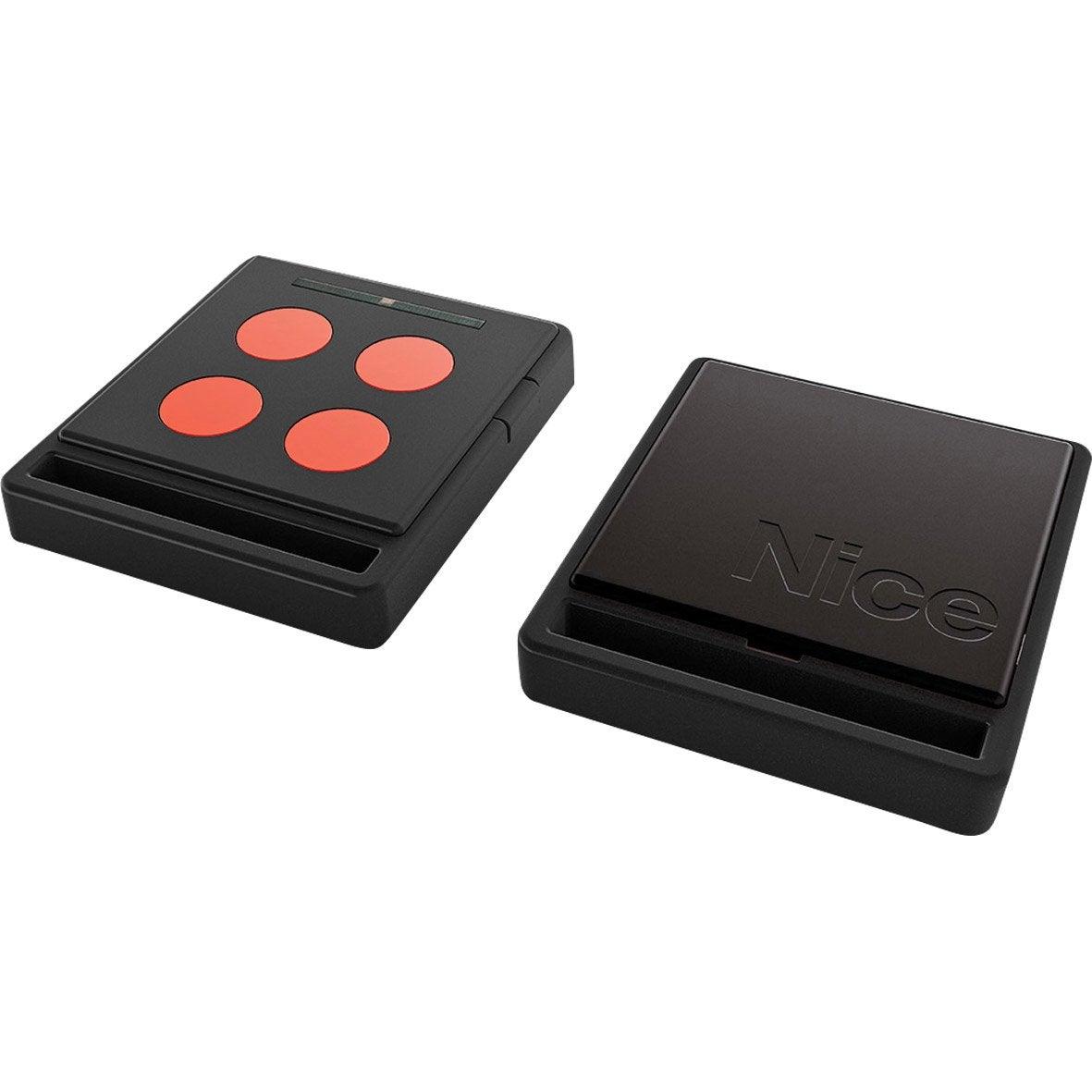 T l commande ecco5 noire et orange pour tout type de for Telecommande garage nice