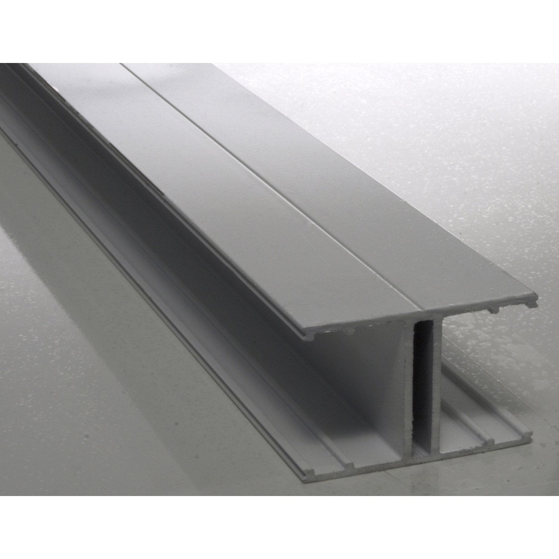 profil jonction aluminium laqu blanc 4 m leroy merlin. Black Bedroom Furniture Sets. Home Design Ideas