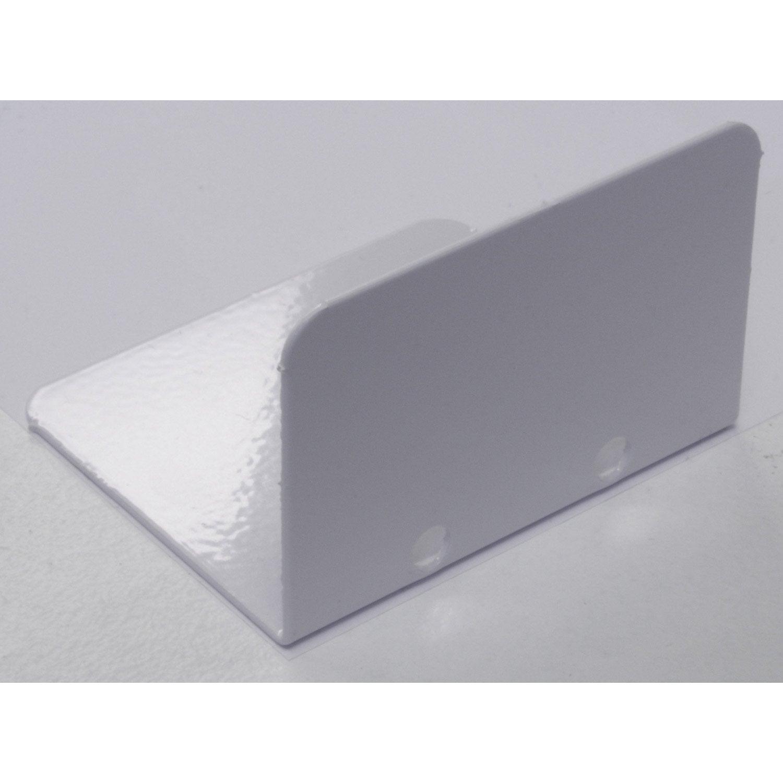 Lot de 5 arr t plaques pour jonction 32 mm blanc l m leroy merlin - Plaque polycarbonate 32 mm leroy merlin ...
