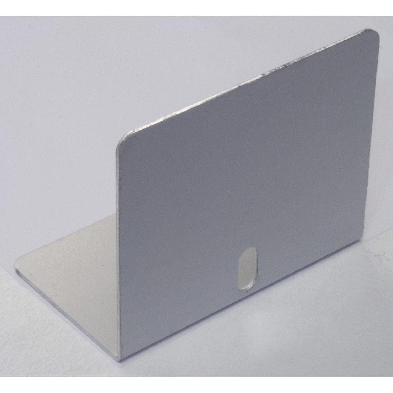 lot de 5 arr t plaques pour jonction 16 mm aluminium l 0. Black Bedroom Furniture Sets. Home Design Ideas