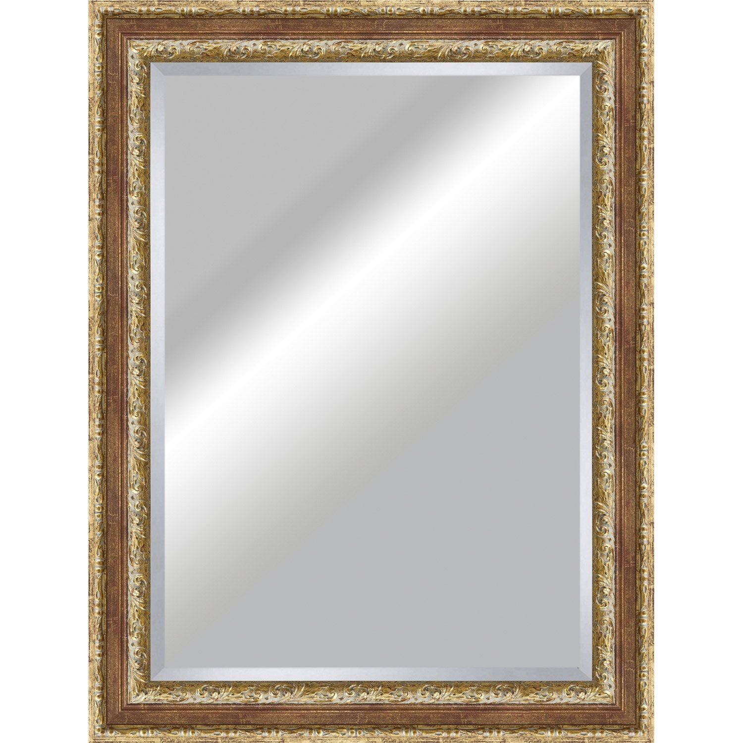 Miroir tradition rouge 50x70 cm leroy merlin for Miroir decoratif pour salon