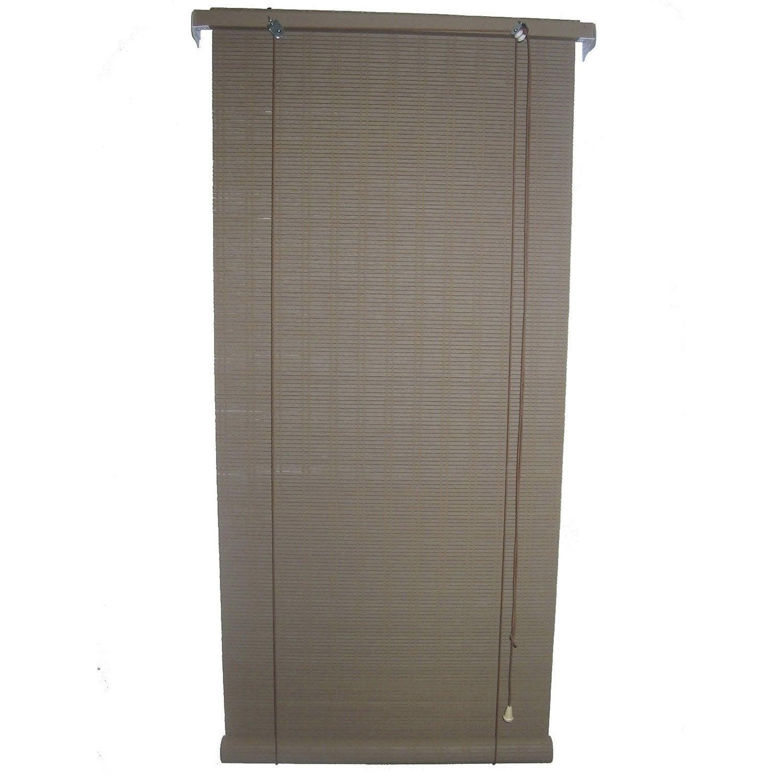 store enrouleur tamisant bois tiss brun chocolat n 4 70x180 cm leroy merlin. Black Bedroom Furniture Sets. Home Design Ideas