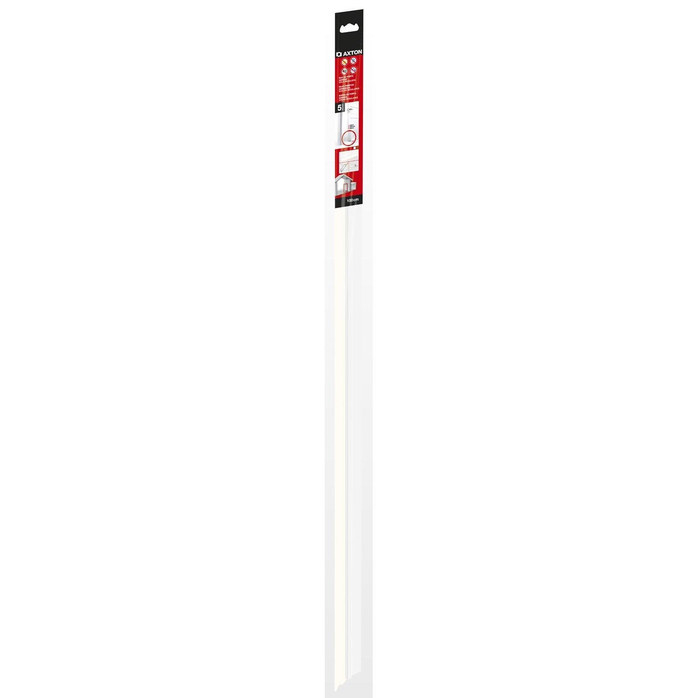 Bas de porte adh sif textile axton long 100 cm blanc for Bas de porte leroy merlin