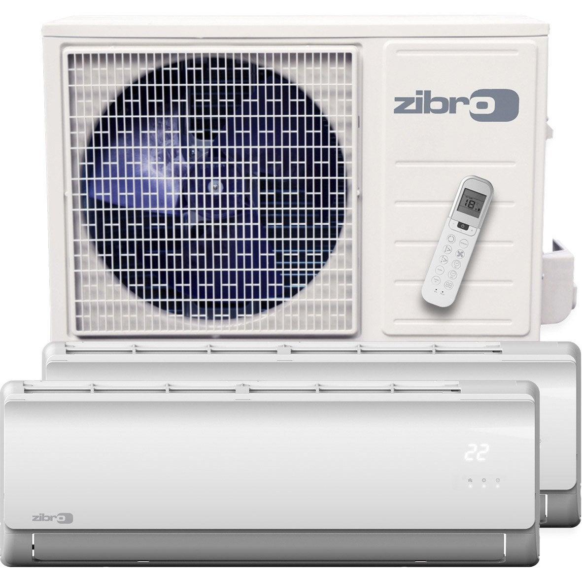 Pompe chaleur air air pack bisplit sm33 duo zibro 5600w for Zibro kristal leroy merlin