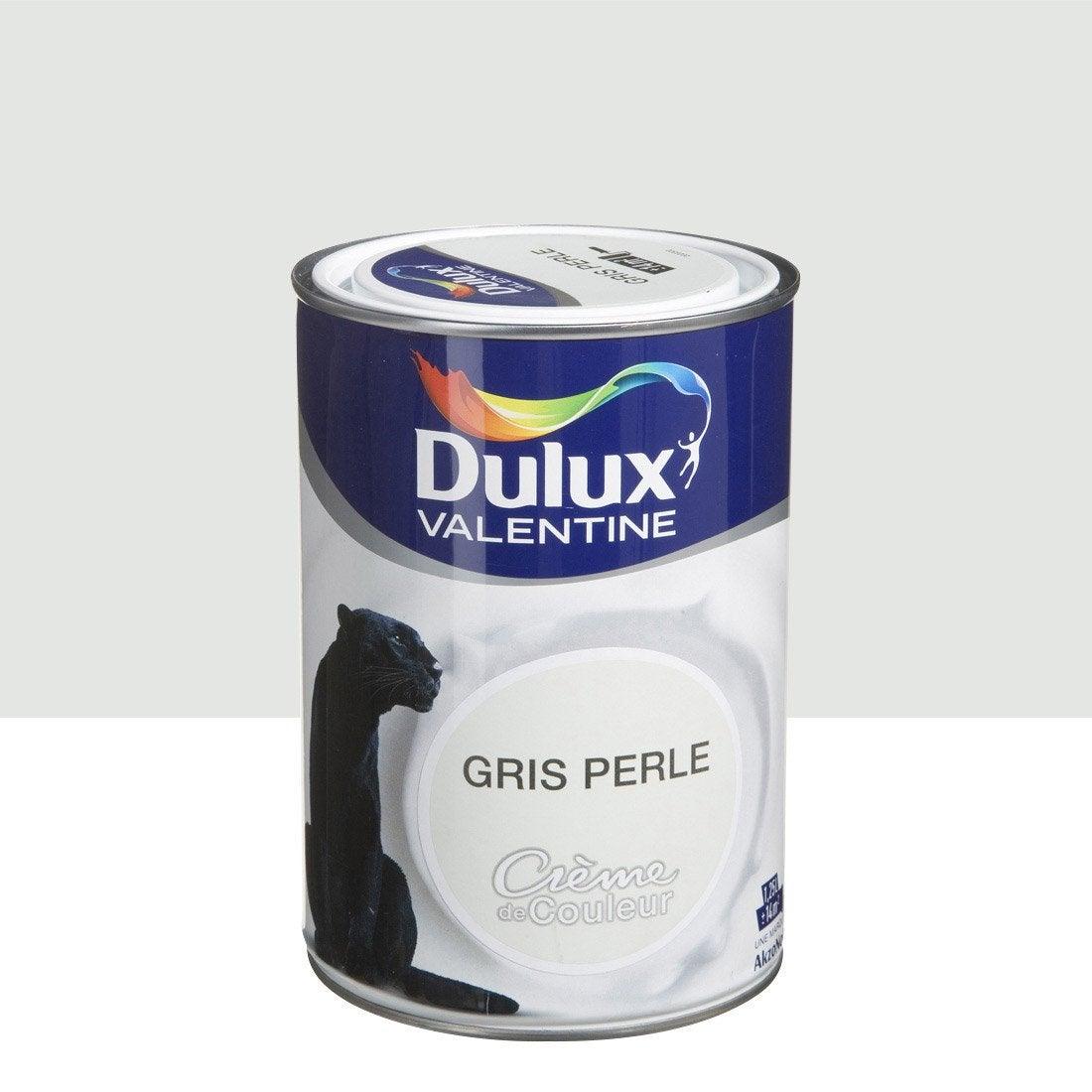 Peinture multisupports cr me de couleur dulux valentine gris perle l leroy merlin for Couleur gris zingue