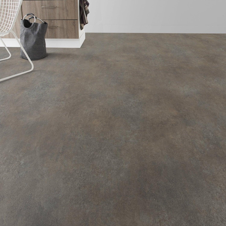 Sol pvc oxyd copper premium textile l 4 m leroy merlin for Sol pvc salle de bain leroy merlin