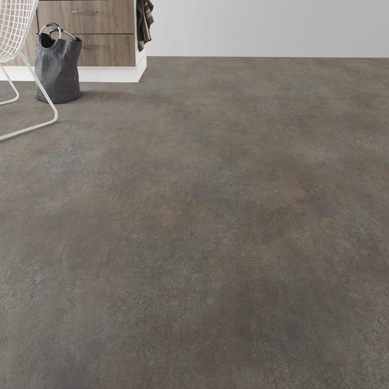 sol pvc oxyd copper premium textile l 4 m leroy merlin. Black Bedroom Furniture Sets. Home Design Ideas