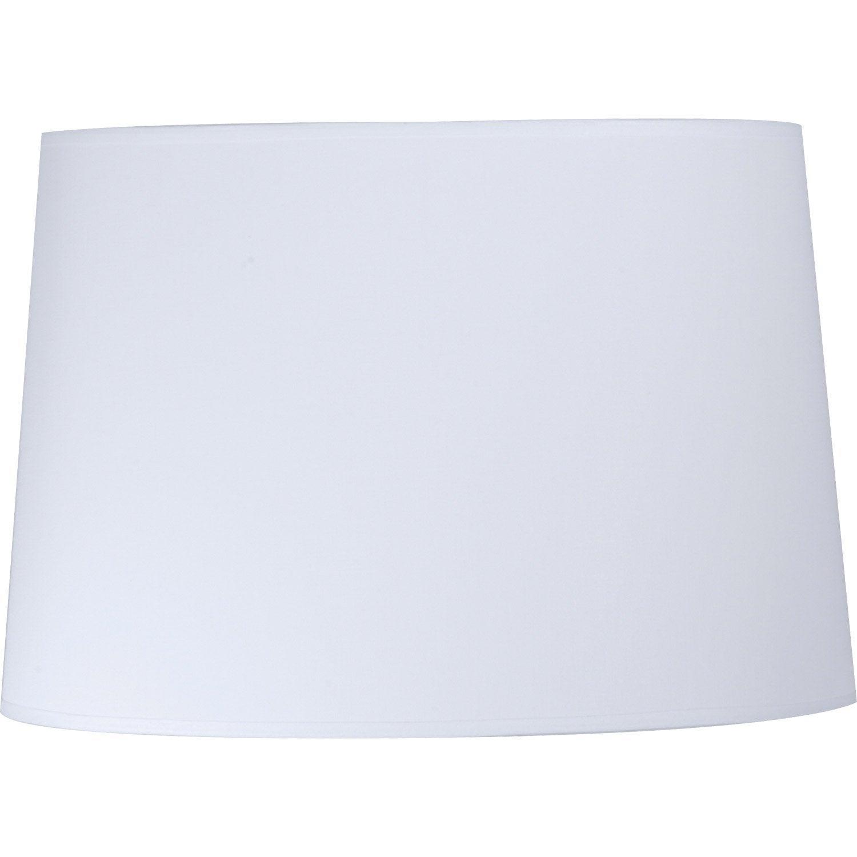 Abat jour conique 30 cm toiline blanc blanc n 0 inspire - Abat jour suspension leroy merlin ...
