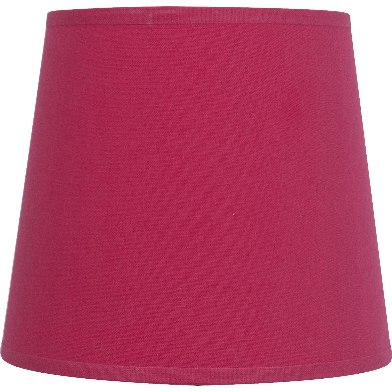 abat jour conique 17 cm toiline rose inspire leroy merlin. Black Bedroom Furniture Sets. Home Design Ideas