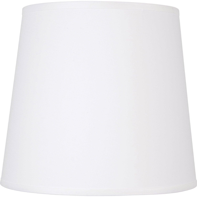 abat jour conique 40 cm toiline blanc blanc n 0 inspire. Black Bedroom Furniture Sets. Home Design Ideas