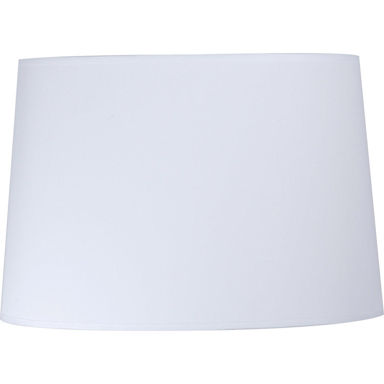 abat jour conique 25 cm toiline blanc blanc n 0 inspire. Black Bedroom Furniture Sets. Home Design Ideas