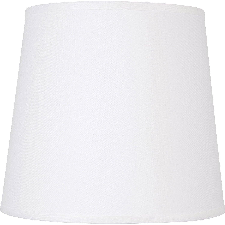 abat jour conique 45 cm toiline blanc blanc n 0 inspire. Black Bedroom Furniture Sets. Home Design Ideas