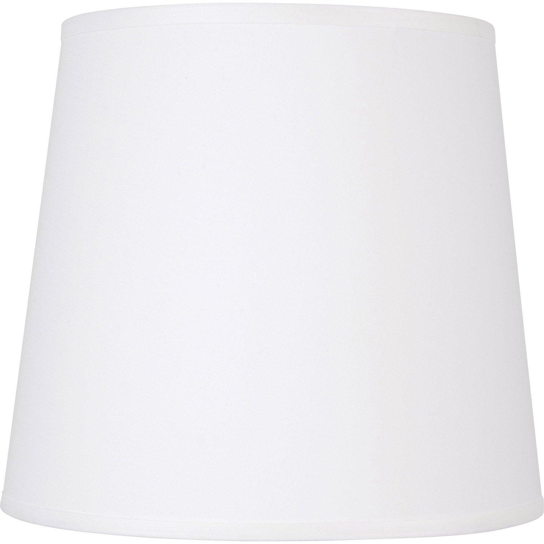 Abat jour conique 12 cm toiline blanc inspire leroy - Abat jour suspension leroy merlin ...