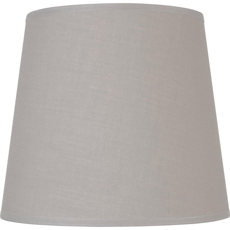abat jour conique 17 cm coton ciment leroy merlin. Black Bedroom Furniture Sets. Home Design Ideas