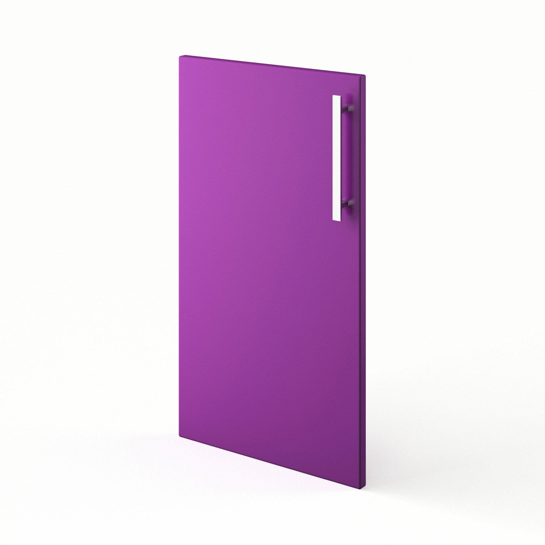 Porte de cuisine violet f40 d lice l40 x h70 cm leroy merlin - Leroy merlin porte de cuisine ...