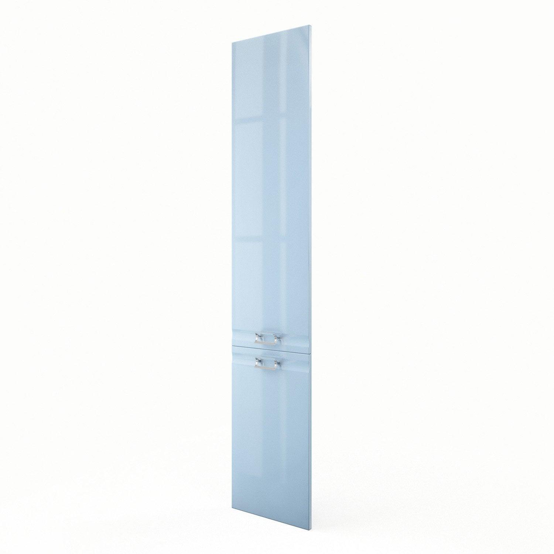 Porte colonne de cuisine bleu f40 200 crystal l40 x h200 - Colonne cuisine leroy merlin ...