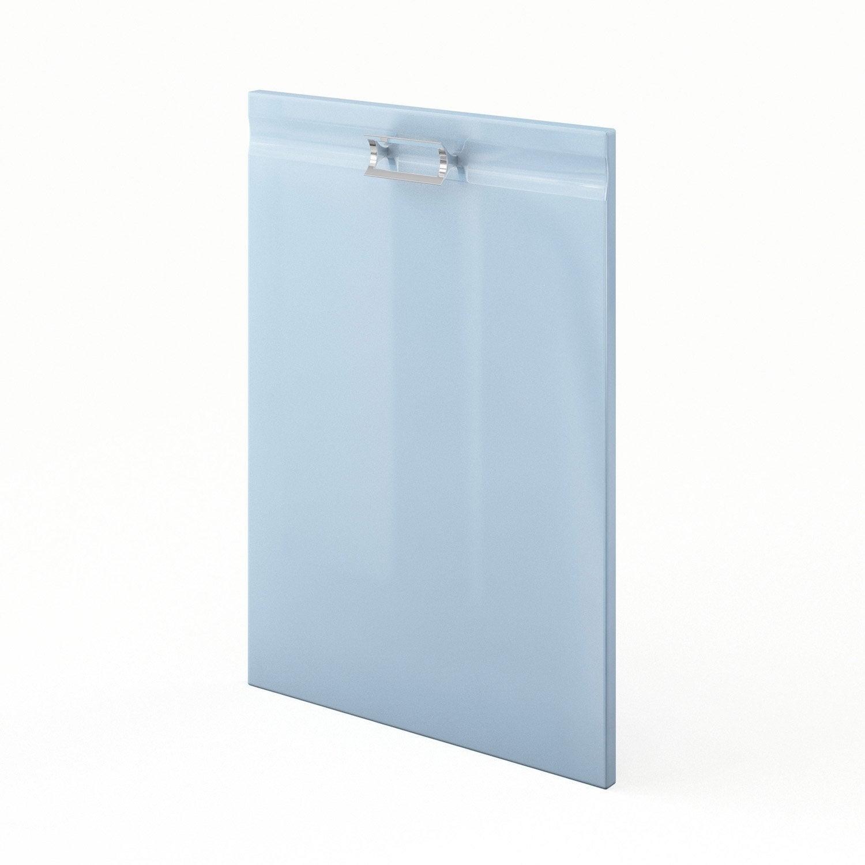 Porte de cuisine bleu f50 crystal l50 x h70 cm leroy merlin - Leroy merlin porte de cuisine ...