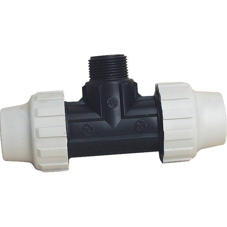1 raccord t plastique en pvc hta visser 19x25 pour tuyau souple leroy merlin - Tuyau pvc leroy merlin ...