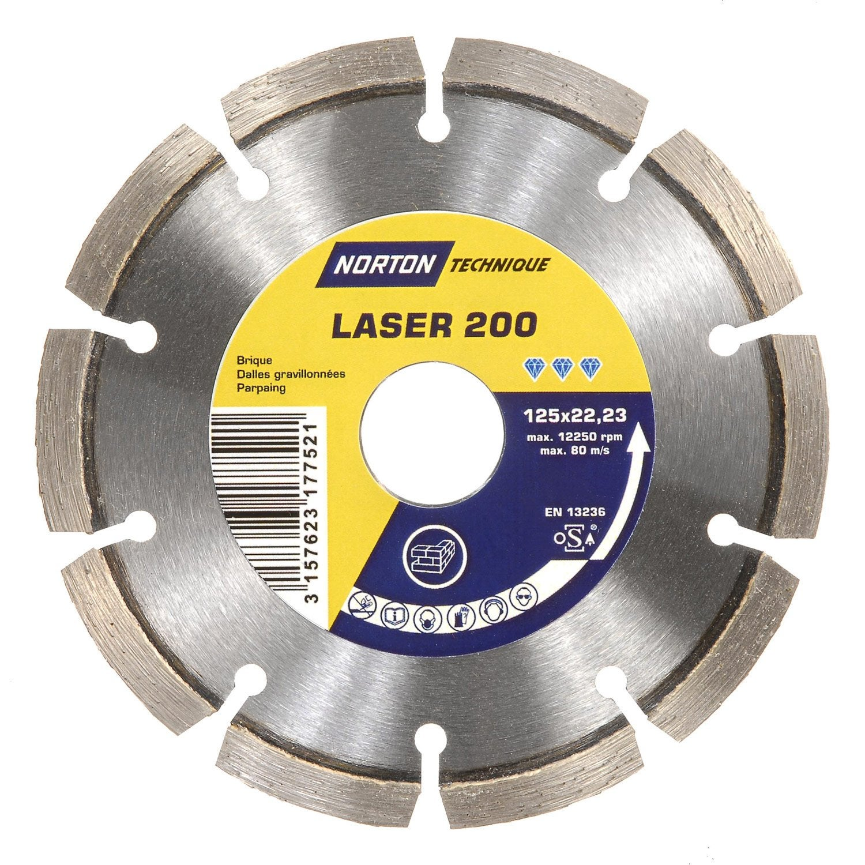 disque diamant segment 233 pour mat 233 riaux de construction norton diam 125 mm leroy merlin