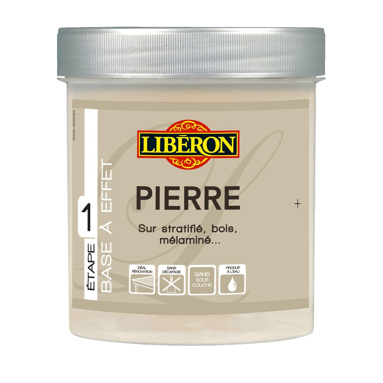 Peinture effet effet pierre mat liberon quartz 0 5 l - Leroy merlin peinture effet metal ...