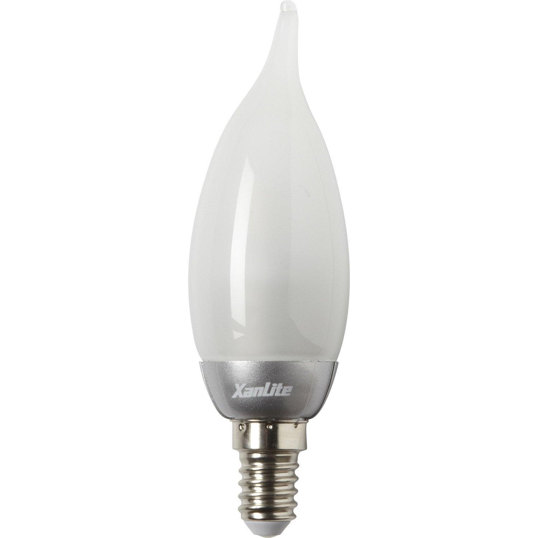 Ampoule flamme led 3 3w xanlite e14 lumi re chaude env - Ampoule lumiere du jour leroy merlin ...