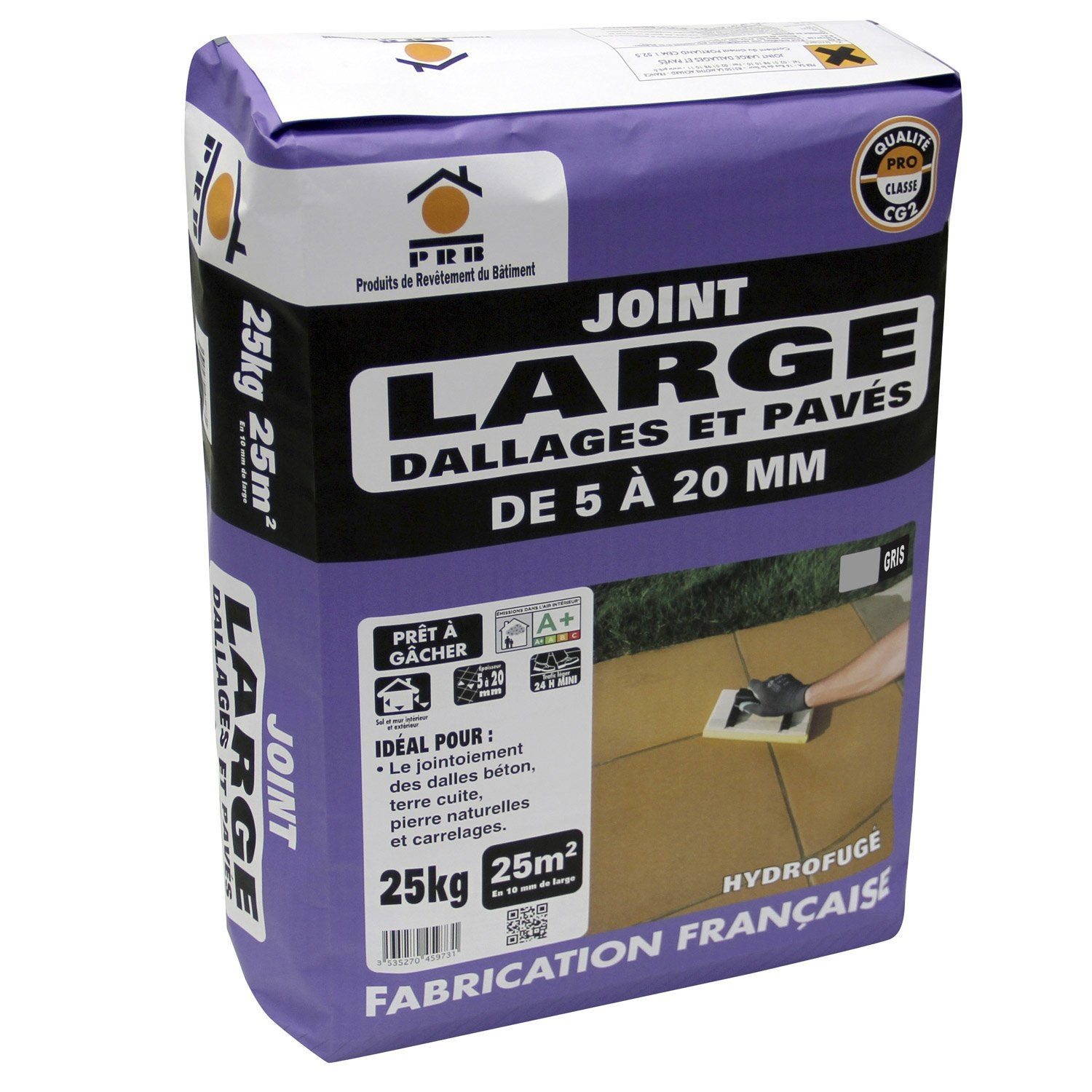 Joint de dallage gris prb 25 kg leroy merlin - Difference entre mortier et beton ...