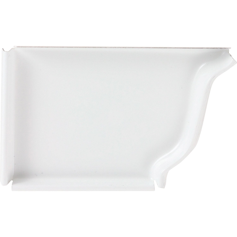talon corniche gauche aluminium blanc leroy merlin. Black Bedroom Furniture Sets. Home Design Ideas