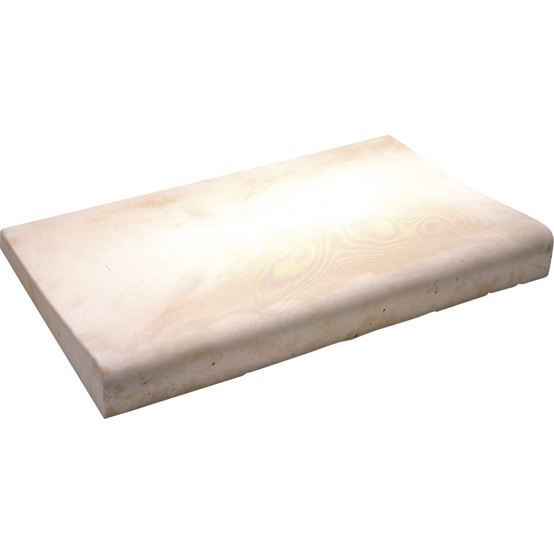 margelle oc ane en pierre reconstitu e jaune leroy merlin. Black Bedroom Furniture Sets. Home Design Ideas