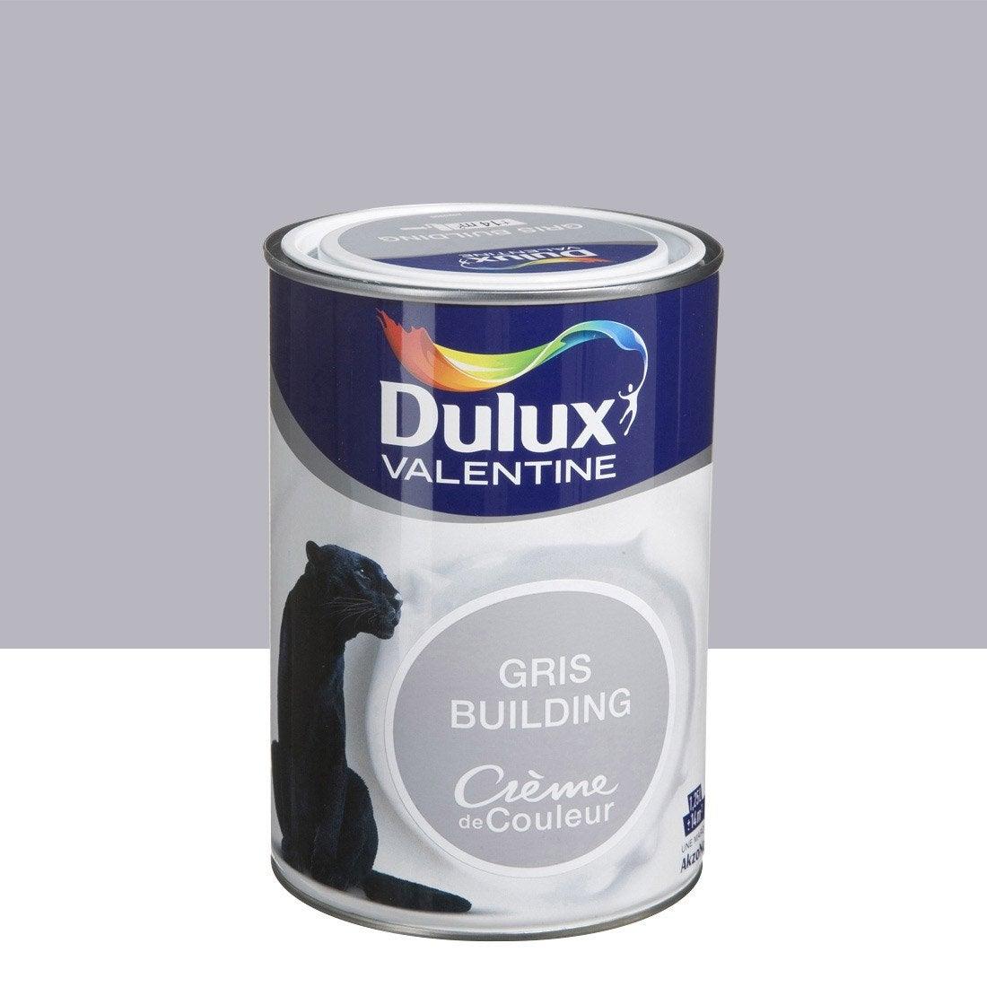 Peinture gris building dulux valentine cr me de couleur 1 for Peinture dulux valentine gris