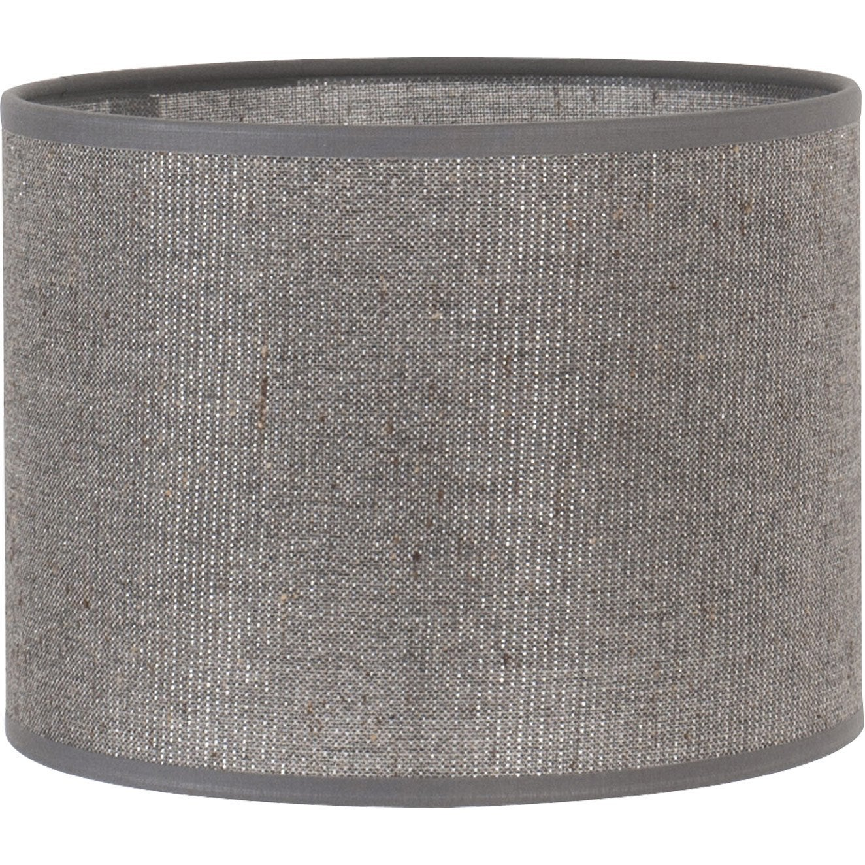 abat jour tube 20 cm coton gris paillettes leroy merlin. Black Bedroom Furniture Sets. Home Design Ideas