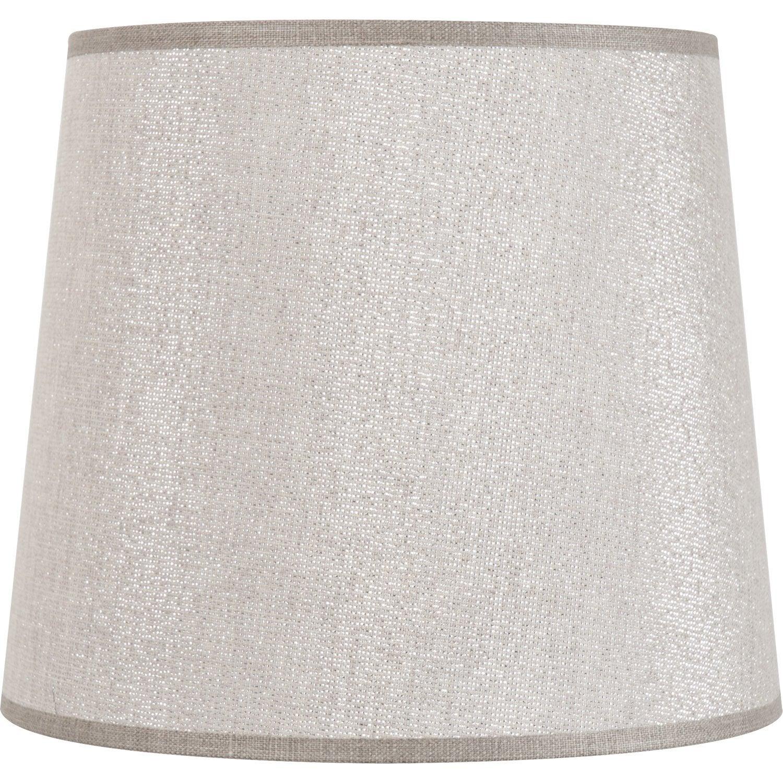 abat jour conique 19 cm 50 coton 50 polyester shine leroy merlin. Black Bedroom Furniture Sets. Home Design Ideas