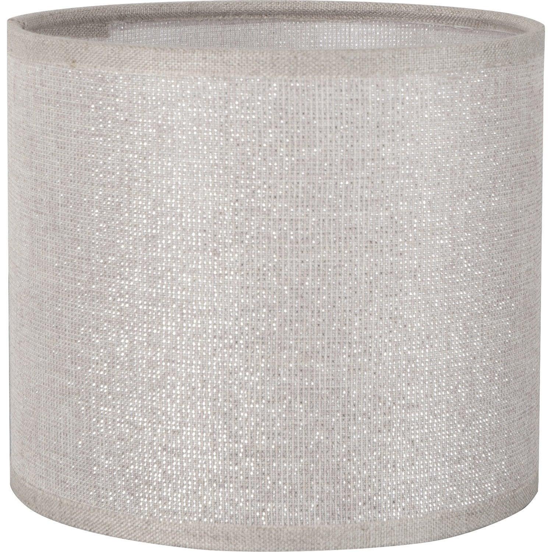 abat jour tube 15 cm coton shine leroy merlin. Black Bedroom Furniture Sets. Home Design Ideas