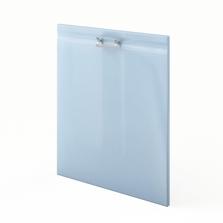 Porte de cuisine bleu f60 crystal l60 x h70 cm leroy merlin - Leroy merlin porte de cuisine ...