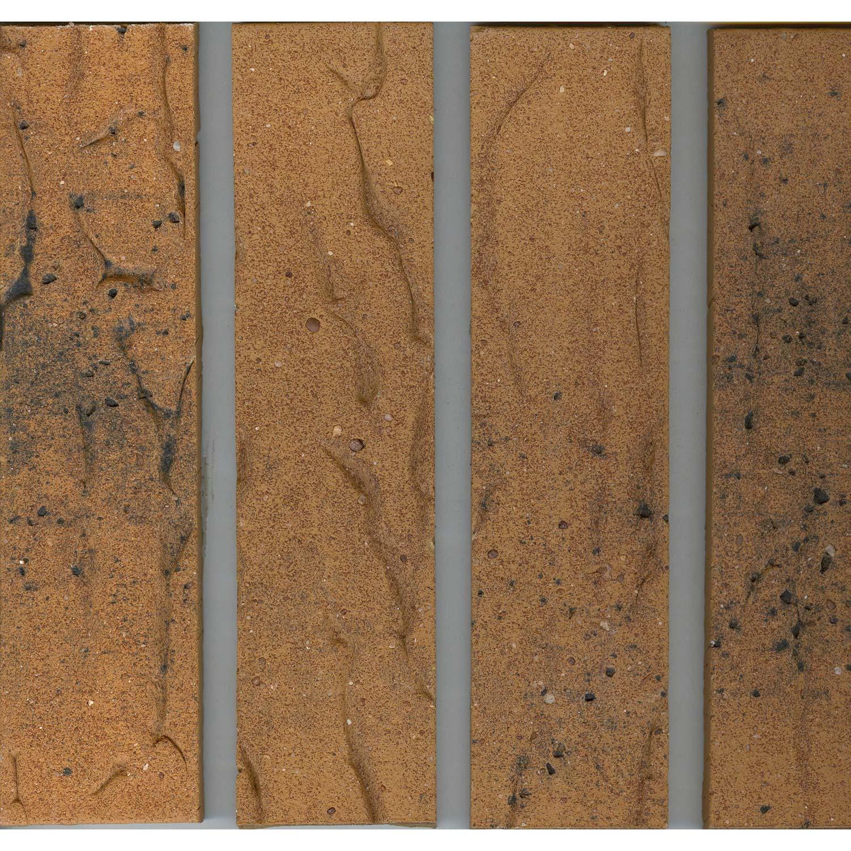 Plaquette de parement bronze flamm terre cuite ep 7 mm for Carrelage terre cuite leroy merlin