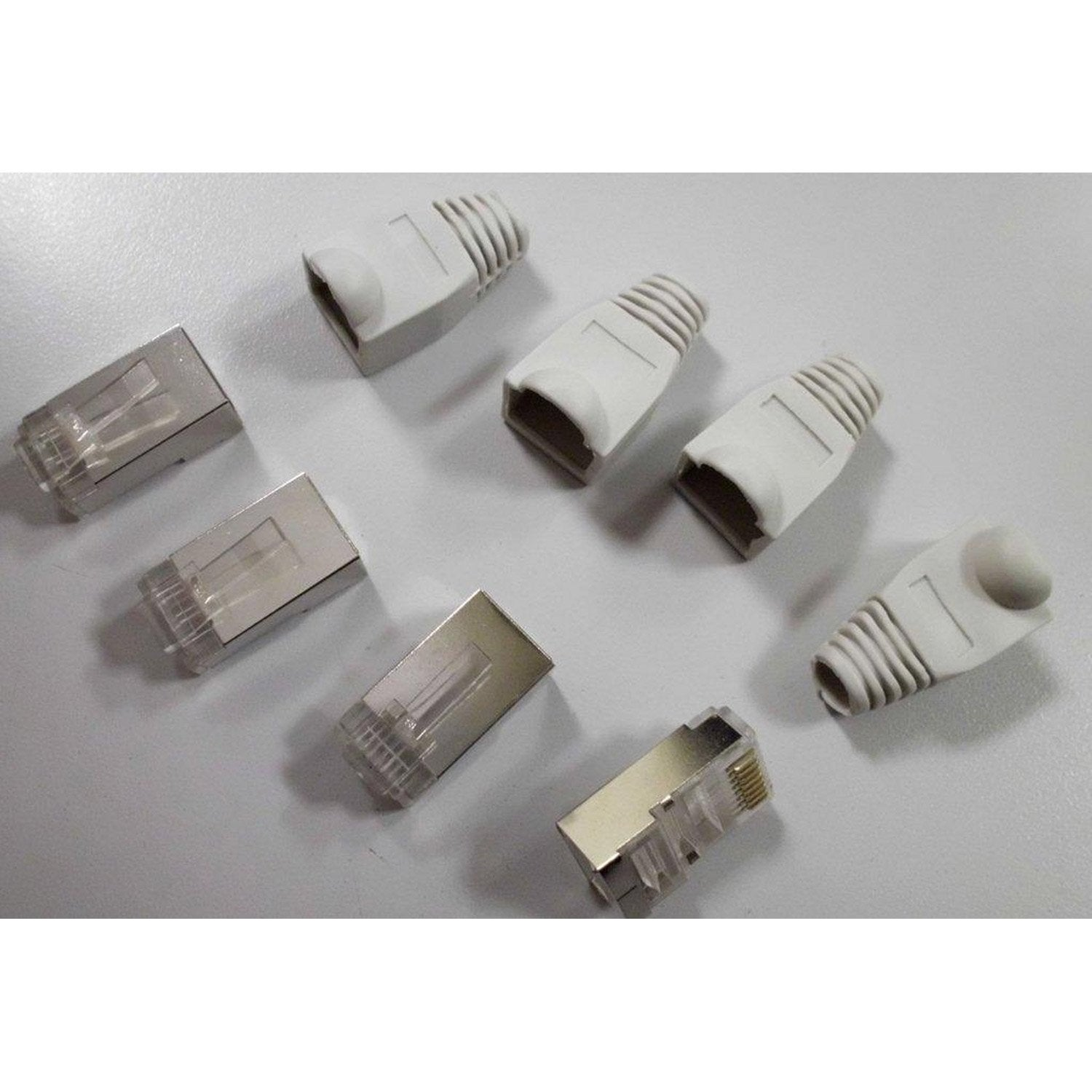 Lot de 4 connecteurs 4 manchons rj45 cat gorie 6 m le - Connect leroymerlin fr ...