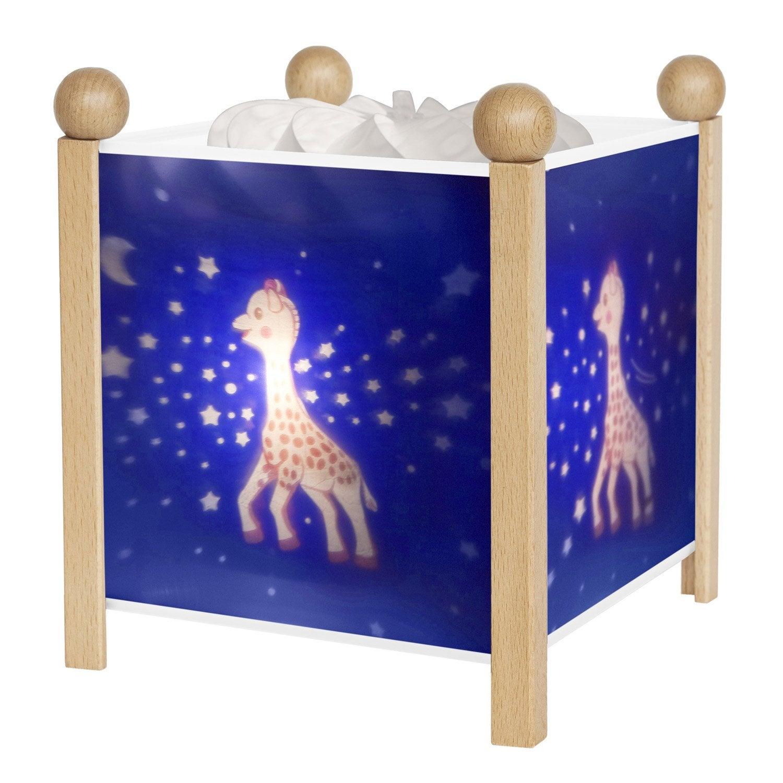 lampe e14 sophie la girafe plastique bleu nuit 10 w. Black Bedroom Furniture Sets. Home Design Ideas