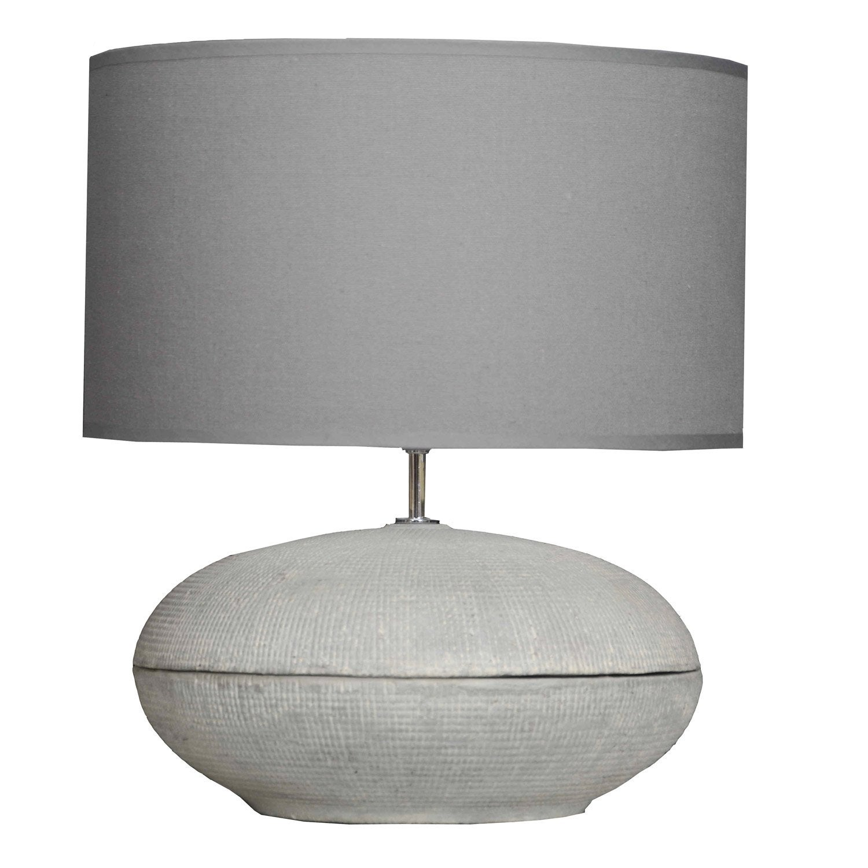 Lampe e14 braga seynave coton sur pvc gris 40 w leroy merlin - Lampe sur pied leroy merlin ...