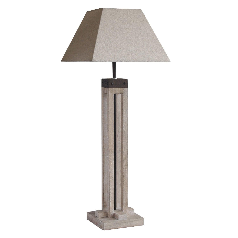 lampe e27 empire seynave coton naturel 40 w leroy merlin. Black Bedroom Furniture Sets. Home Design Ideas