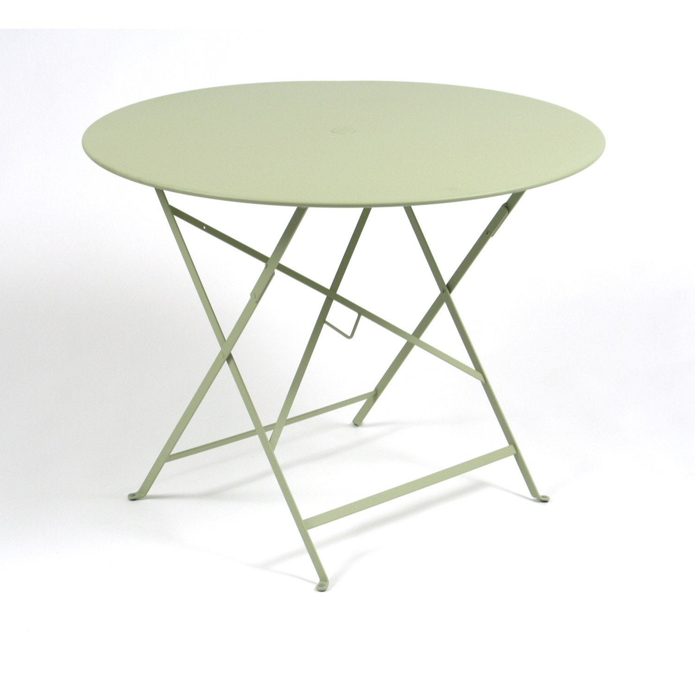 Table de jardin fermob bistro ronde tilleul 4 personnes - Table ronde 4 personnes ...