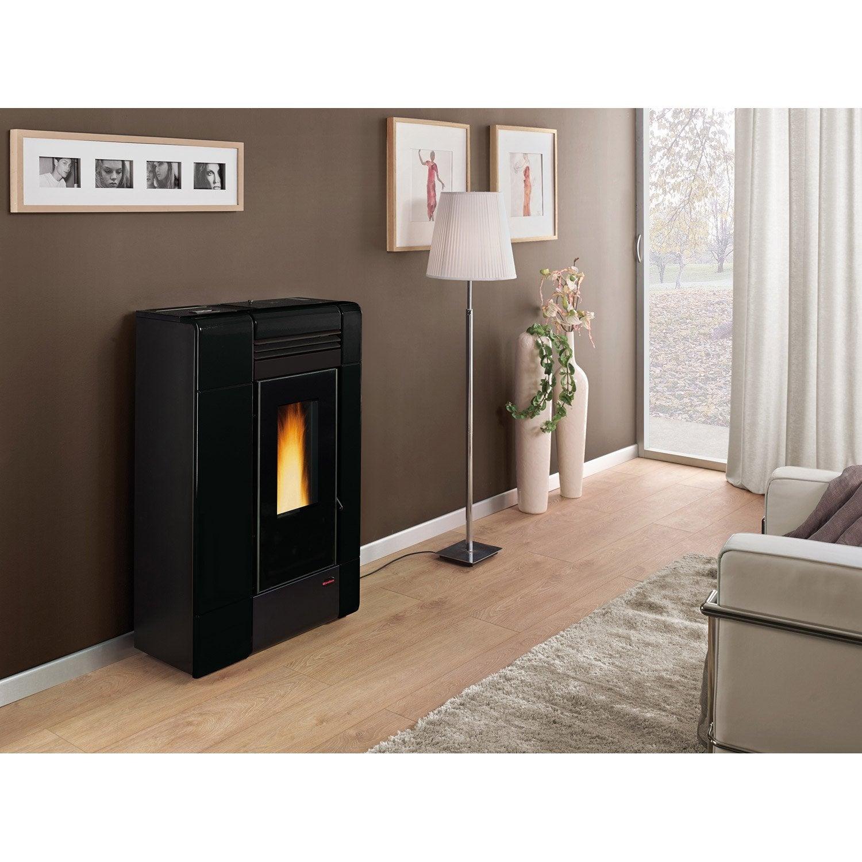 po le granul s extraflame ilenia noir 8 kw leroy merlin. Black Bedroom Furniture Sets. Home Design Ideas