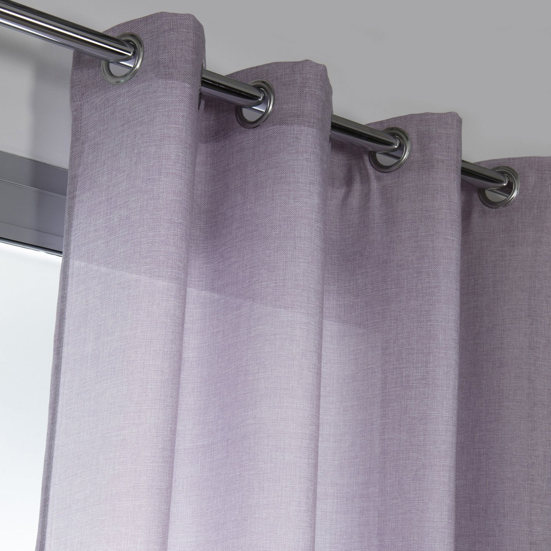 rideau tamisant copenhague violet aubergine n 6 x. Black Bedroom Furniture Sets. Home Design Ideas