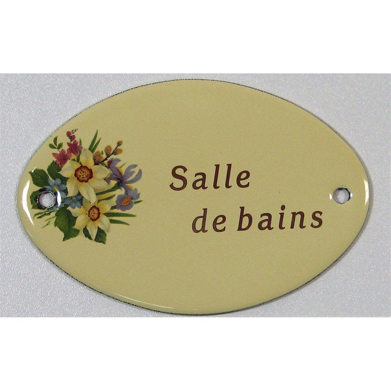 Plaque maill e salle de bain visser en acier leroy merlin for Plaque salle de bain