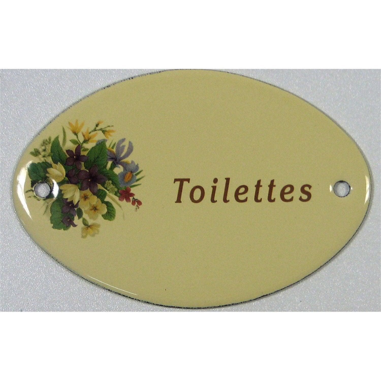 Plaque maill e toilettes en acier leroy merlin - Plaque de porte wc design ...